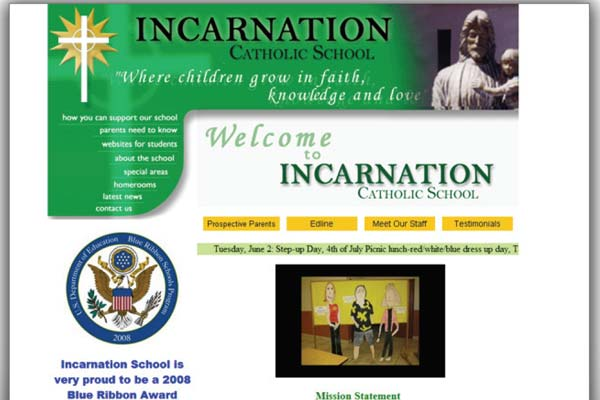 Incarnation School web site image