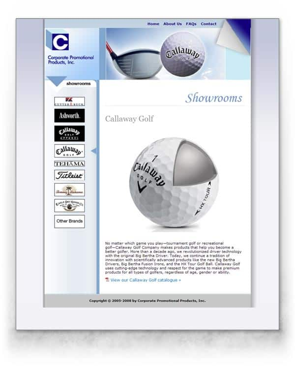 Corporate Promotional Products web site image