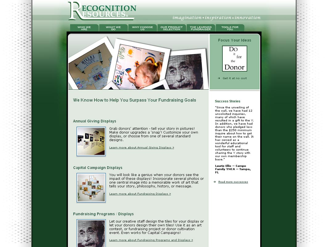 Recognition Resources web site image